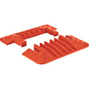 Guard Dog GDEC5X125 End Caps For 5-CH. Cable Protector Pair Orange