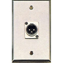 Contractor Series Wall Plate with 1 Male XLR