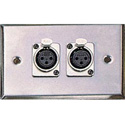 Contractor Series Wall Plate with 2 Female XLR