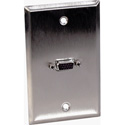 Contractor Series Wall Plate with 1 VGA HD 15-Pin Female Barrel