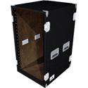 Grundorf AR-20EXDR 20 Space Recessed Hardware Equipment Rack (Black Carpet)