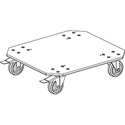 Add-on Grundorf RS-D-LC2B 4in Large Caster Two Brakes Dolly Plate For Grundorf Carpet Series RS-18D Rack Shell