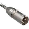 XLR3M to 1/4 Inch Male TRS Adaptor