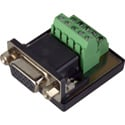 Female Male HD15 VGA to Screw Terminal Block Chassis Mount