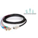 Laird HD3RCA-15HDM-25 Belden/Kings HDTV 3-Channel RCA Male to VGA Male Cable - 25 Foot