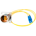 Camplex LEMO EDW to Duplex LC Internal Fiber Optic Breakout Cable 6 Inch