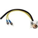 Camplex LEMO EDW to Dual ST & Blunt Lead Fiber Breakout Cable 18 Inch