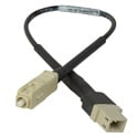 Camplex LC Female to SC Male OM1 Multimode Fiber Tactical Adapter Cable 6 Inch