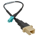 Camplex SC Female to LC Male OM3 Multimode Fiber Tactical Adapter Cable 6 Inch