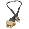 Camplex HF-M3-SCF-STM SC Female to ST Male OM3 Multimode Fiber Tactical Adapter Cable- 8 Inch