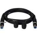 Camplex opticalCON QUAD to QUAD Singlemode Fiber Optic Tactical Cable 500 Foot