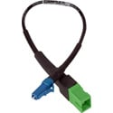Camplex HF-SM-ASCF-LCM APC SC Female to UPC LC Male Single Mode Fiber Optic Tactical Adapter- 8 Inch