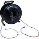 Camplex 2-Channel LC Single Mode Fiber Optic Premium Broadcast Tactical Snake Reel - 500 Foot
