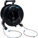 Camplex 2-Channel LC Singlemode Fiber Optic Premium Broadcast Tactical Snake Reel - 750ft