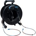 Camplex 2-Channel LC Singlemode Fiber Optic Premium Broadcast Tactical Snake Reel - 1500ft