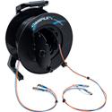 Camplex 2-Channel ST Single Mode Fiber Optic Tactical Snake on Reel 250 Foot