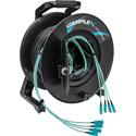 Camplex 4-Channel SC Multi Mode OM3 Fiber Optic Tactical Reel - 100 Foot