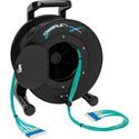 Camplex 12-Channel LC Multimode OM3 Fiber Optic Tactical Reel - 1000 Foot