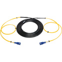 Camplex 2-Channel SC-Single Mode Tactical Fiber Optical Snake - 100 Foot