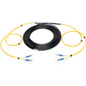 Camplex 2-Channel ST-Single Mode Tactical Fiber Optical Snake- 1000 Foot