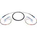 Camplex 12-Channel ST-Single Mode Tactical Fiber Optical Snake- 50 Foot
