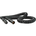 Laird HIPWR-X4-MF-5C Heavy Duty 4-Pin XLR-M To 4-Pin XLR-F 16AWG High Power Cable - 1-5 Foot Coiled