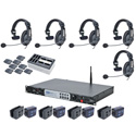 Clear-Com CZ11432 DX200 System w/ HS15 Headsets and Li-Ion batteries