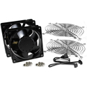 Hammond AVFK2AC120 2x 120mm Rack Fan and Guards Cord Kit