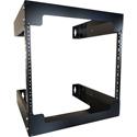 Hammond RB-2PW8 8U 18 Inch Depth Fixed Wall Rack - Open Frame