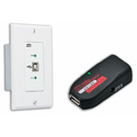 Hall Research U2-160-DP USB 2.0 over UTP Extender with Wall Plate Local Side
