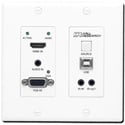 Hall Research UHB-SW2-WP VGA & HDMI Auto-Switching Wall-Plate with HDBaseT