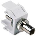 HellermannTyton FIBERINSERT-W Fiber Optic Keystone Module For Wallplate - White