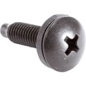 Trim Head Classic Style 10-32 Rack Screws & Washers Black - 500 Pack