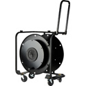 Hannay Reels AVF-18 Fiber Optic Series Metal Cable Reel for up to 1000 Feet of SMPTE Cable - with Casters & Pull Handle