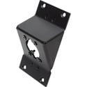 Camplex HYMOD-2R26 Punched Angled Black Aluminum Panel for Neutrik opticalCON & All D-Series Connectors- 2RU