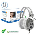 HygenX X19HLCWHC NatureWeave 100% Biodegradable Sanitary Headphone Covers PPE 4.5-Inch in White - Master Carton/600 Pair