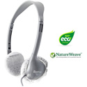 HygenX X19HSCWHG NatureWeave 100% Biodegradable Disposable Headphone Covers PPE 2.5-Inch in White 50 Pair