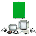 ikan CHROMA-1F1H Drop Ceiling Mount Studio Chromakey Light Kit with 1x1 Softlight Panel - Half x1 Softlight Panel & DMX