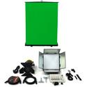 ikan CHROMA-1F1S Drop Ceiling Mount Studio Chromakey Light Kit with 1x1 Softlight Panel / 4 Inch Fresnel and DMX