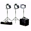 ikan IFB2115 Featherweight Large Bi-color Kit w/2 IFB1024 & 1 IFB576 w/AB & Sony V-Mount Battery Plates