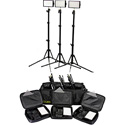 ikan iLED312-v2-KIT- 3-Point Light Kit with Stands and Bag