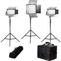 ikan RB-1F2H Rayden Bi-Color 3-Point LED Light Kit with 1x RB10 plus 2x RB5
