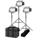 ikan RW5-3PT-KIT Rayden Half x1 Daylight (5600K) 3-Point Panel LED Light Kit with Gold & V-Mount Battery