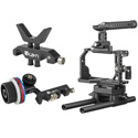 ikan STR-A6-KIT STRATUS Cage Kit for Sony a6500 and a6400 w/ Follow Focus and Lens Support