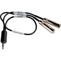 Sescom IPHONE-LN2MIC-1 Monitoring Cable iPhone/ iPod / iPad TRRS to 25dB 3.5mm Line Level and 3.5mm Monitor Jack - 18 In