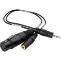 Sescom IPHONE-MIC-1 iPhone/ iPod / iPad Monitoring Cable TRRS to XLR Mic & 3.5mm Monitoring Jack - 1 Foot
