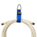 Rip-Tie Silver Triangle Carabiner Style CableCarriers (50Pk) Blue