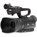 JVC GY-HM250SP 4K Streaming Camcorder with HD Sports Overlays and AC Power Supply