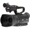 JVC GY-HM250U 4KCAM Streaming Sports Production Camcorder with AC Power Supply