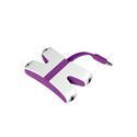 Kanex KAUXFX4PR JamFly 3.5mm Stereo 4-way Splitter (Purple)